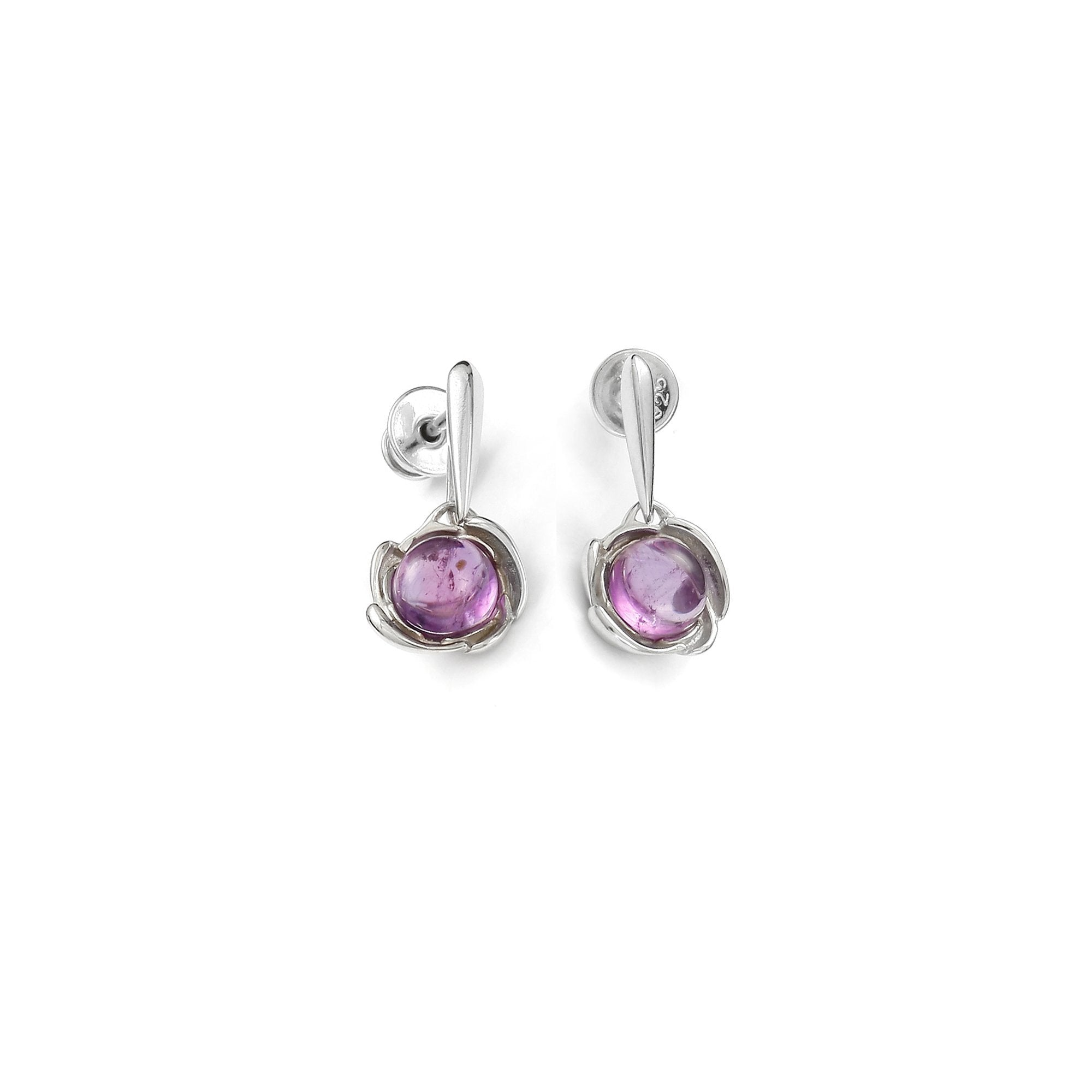 Eye of the Storm Purple Earrings - Koraba
