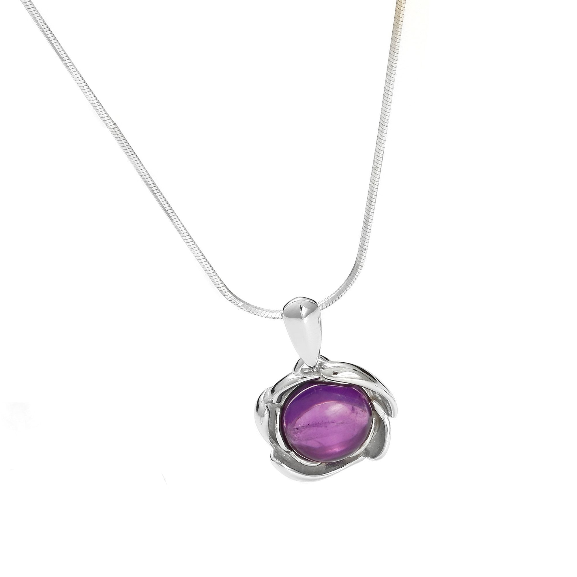 Eye of the Storm Purple Pendant - Koraba