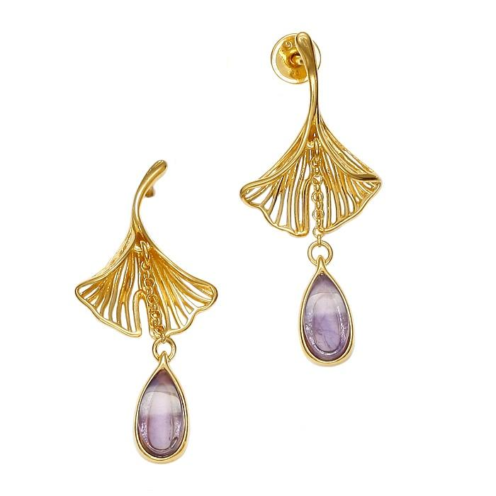 Ginko Purple Earrings - Koraba