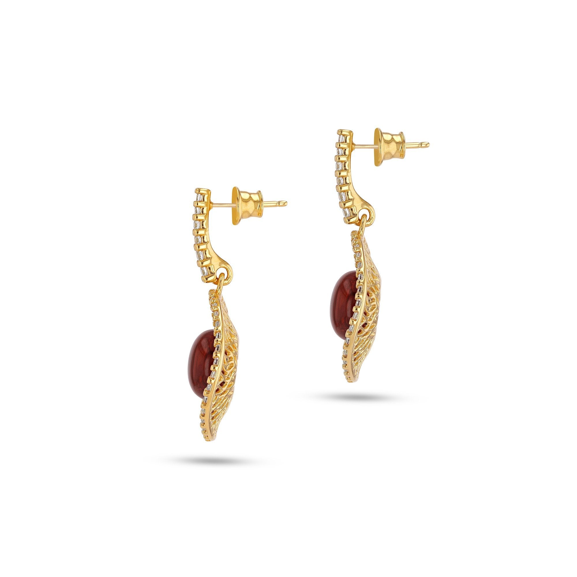 Goddess of Zircons Cherry Earrings - Koraba