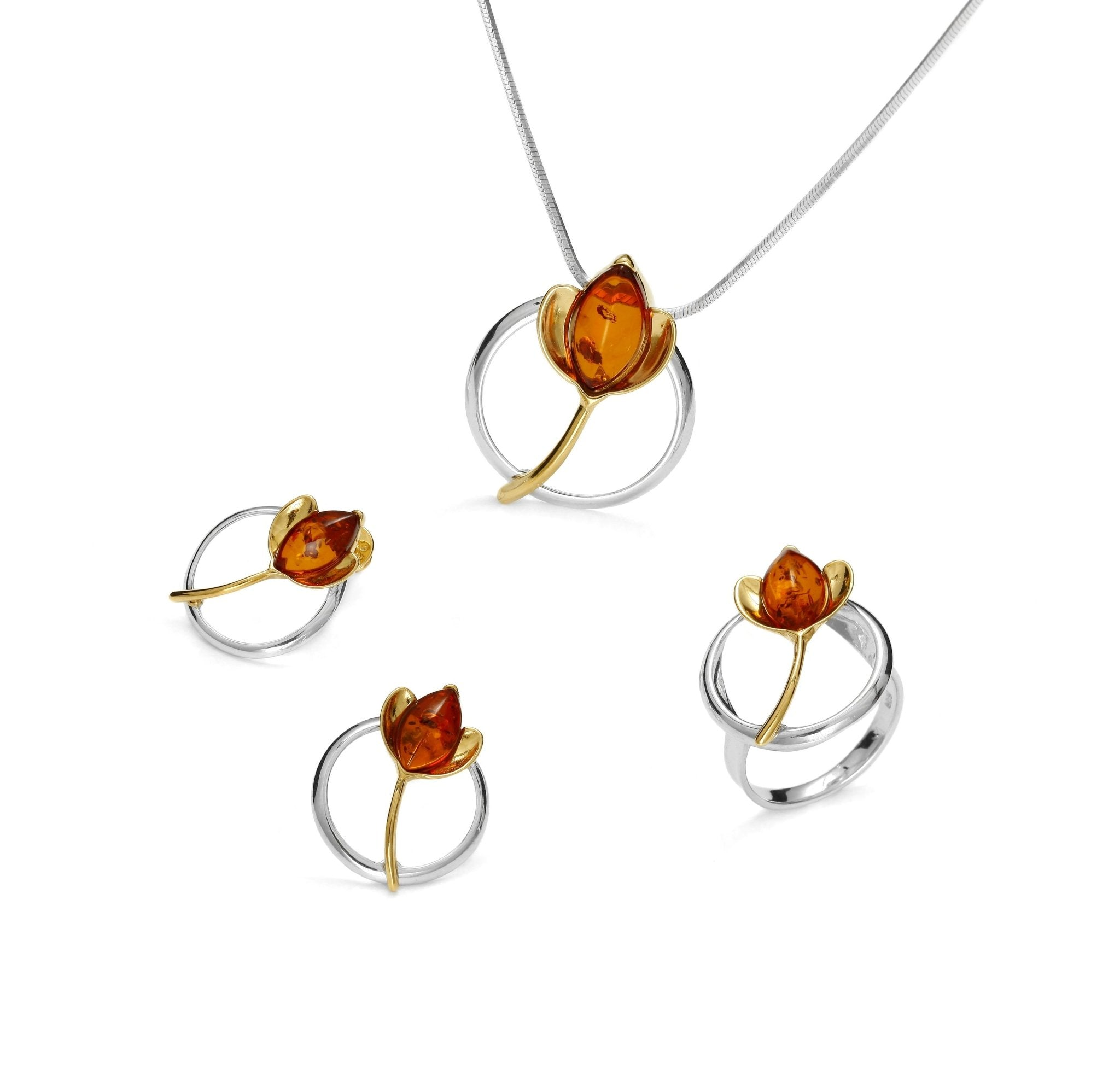 Golden Lotus Amber Full Set - Koraba