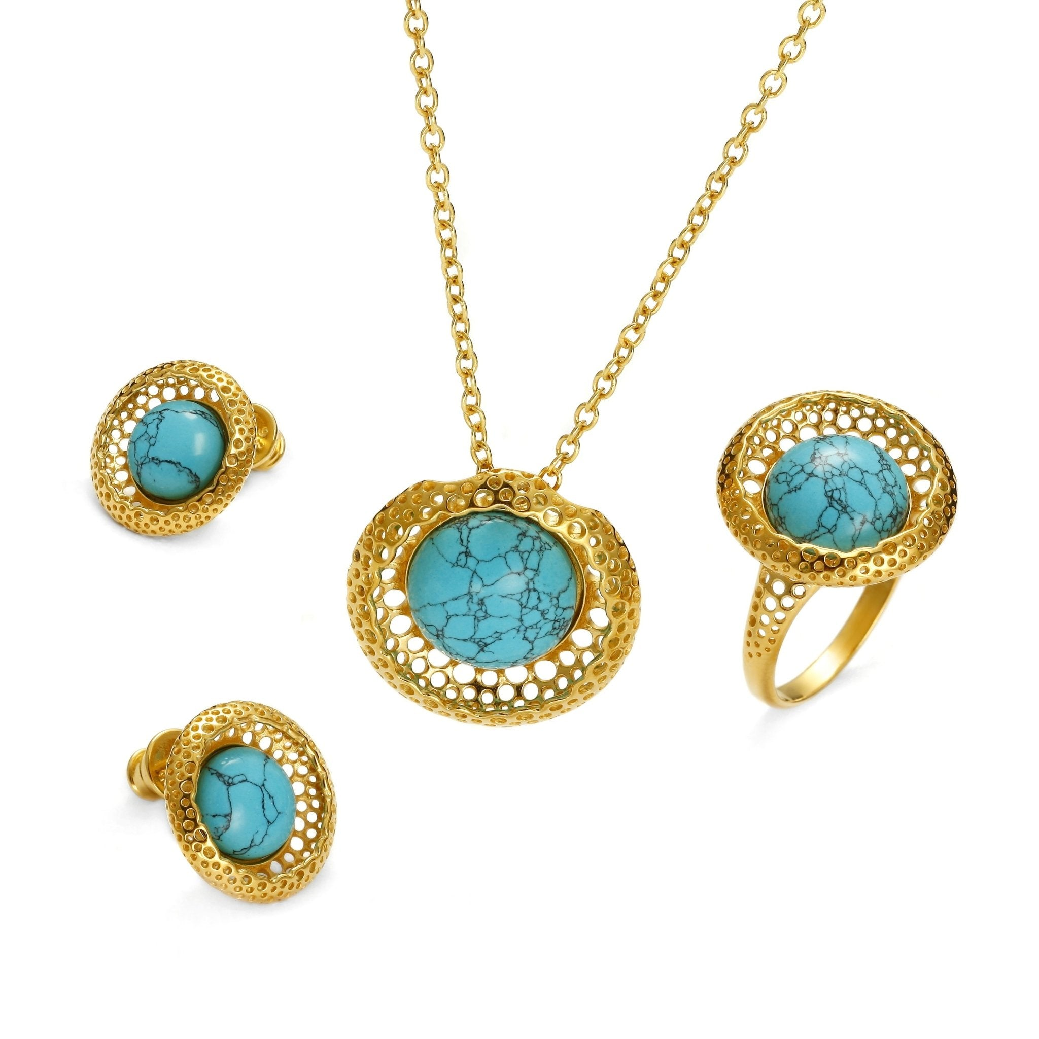 Golden Web Turquoise Full Set - Koraba