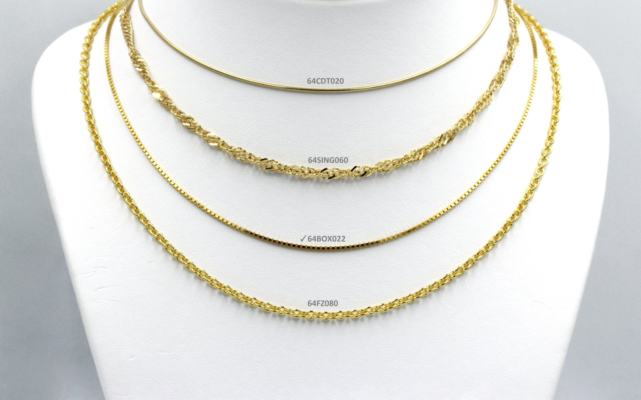 Koraba Silver 925 Gold Plated BOX Chain - Koraba