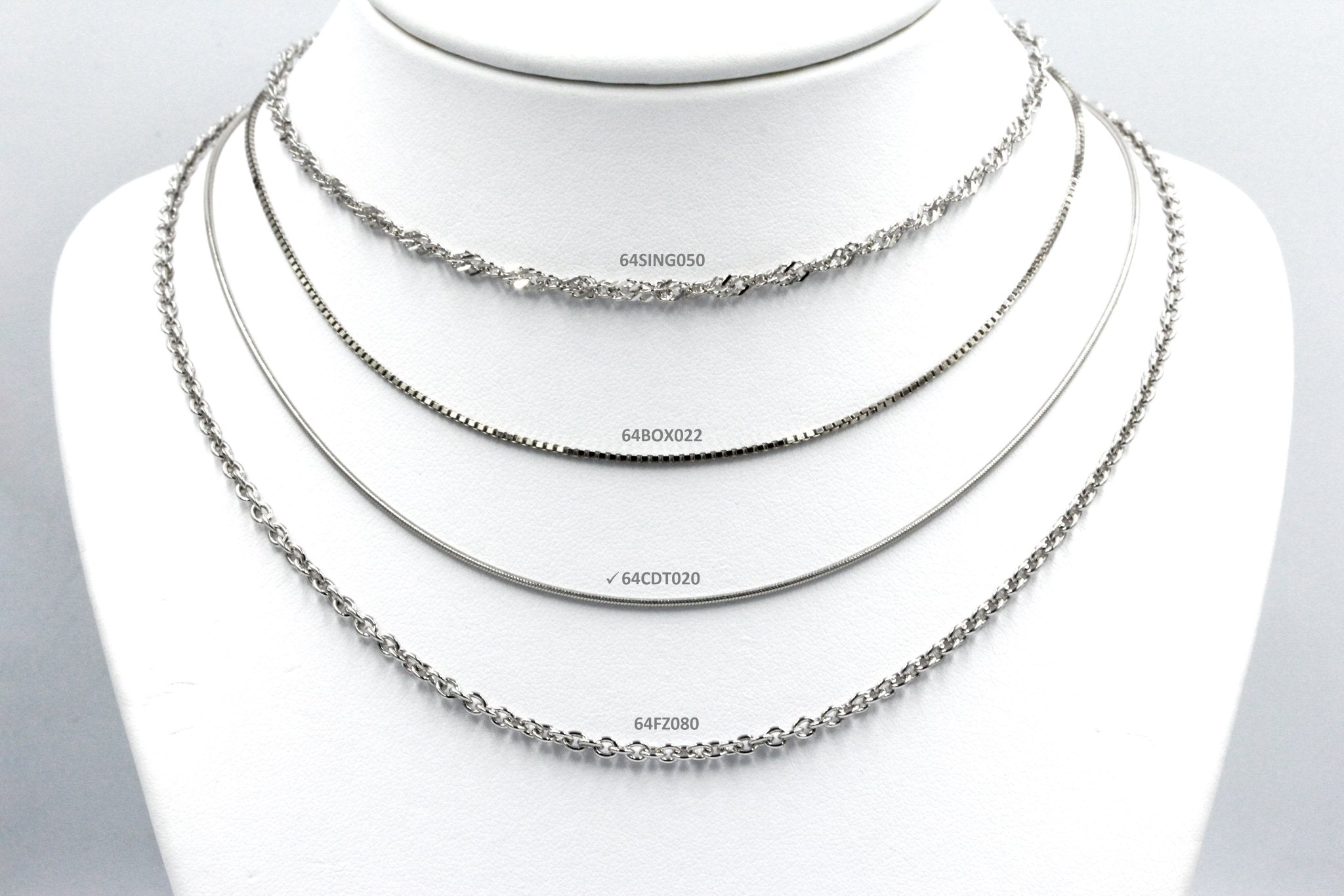 Koraba Silver 925 Rhodium Plated CDT Chain - Koraba