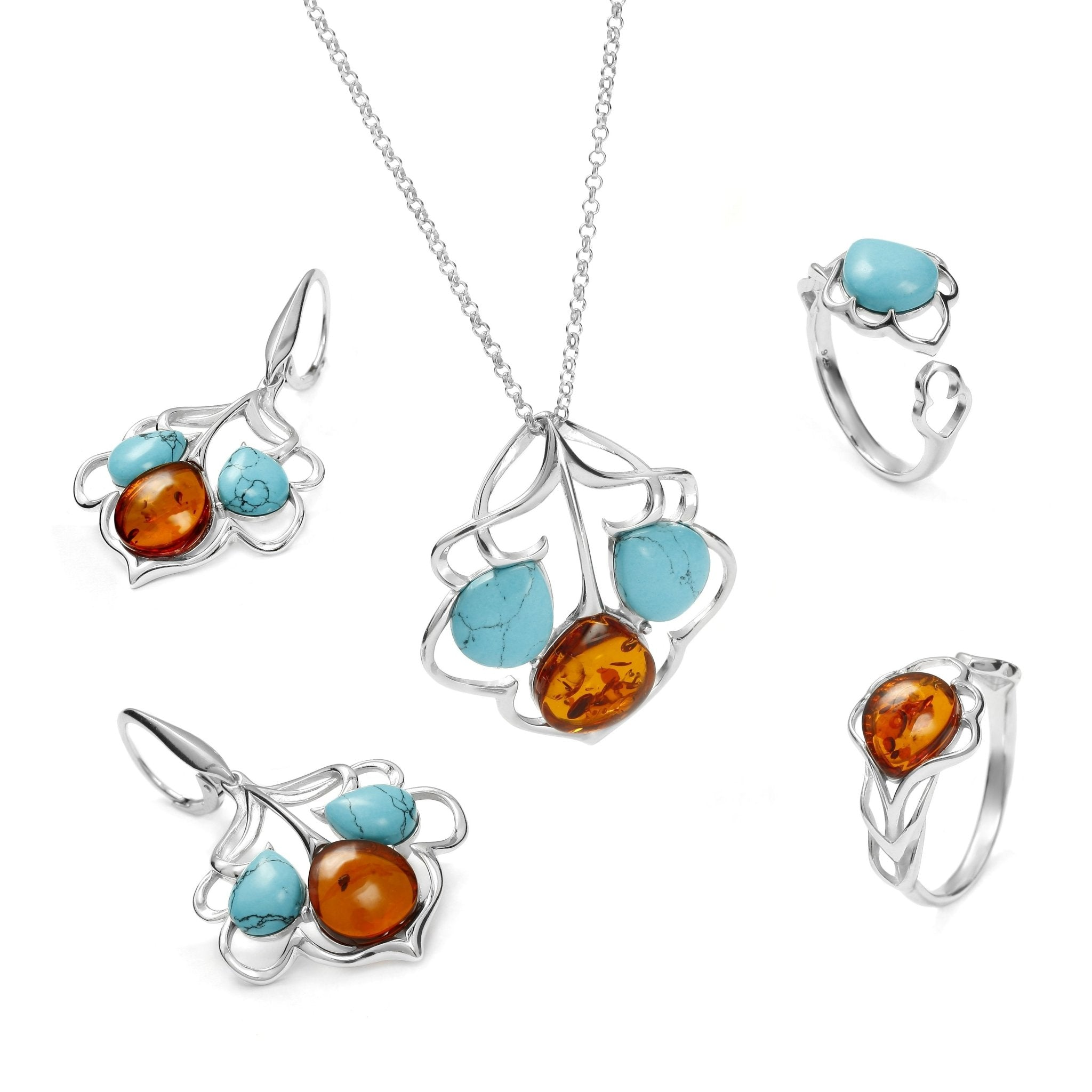 Maple Leaf Turquoise Full Set - Koraba