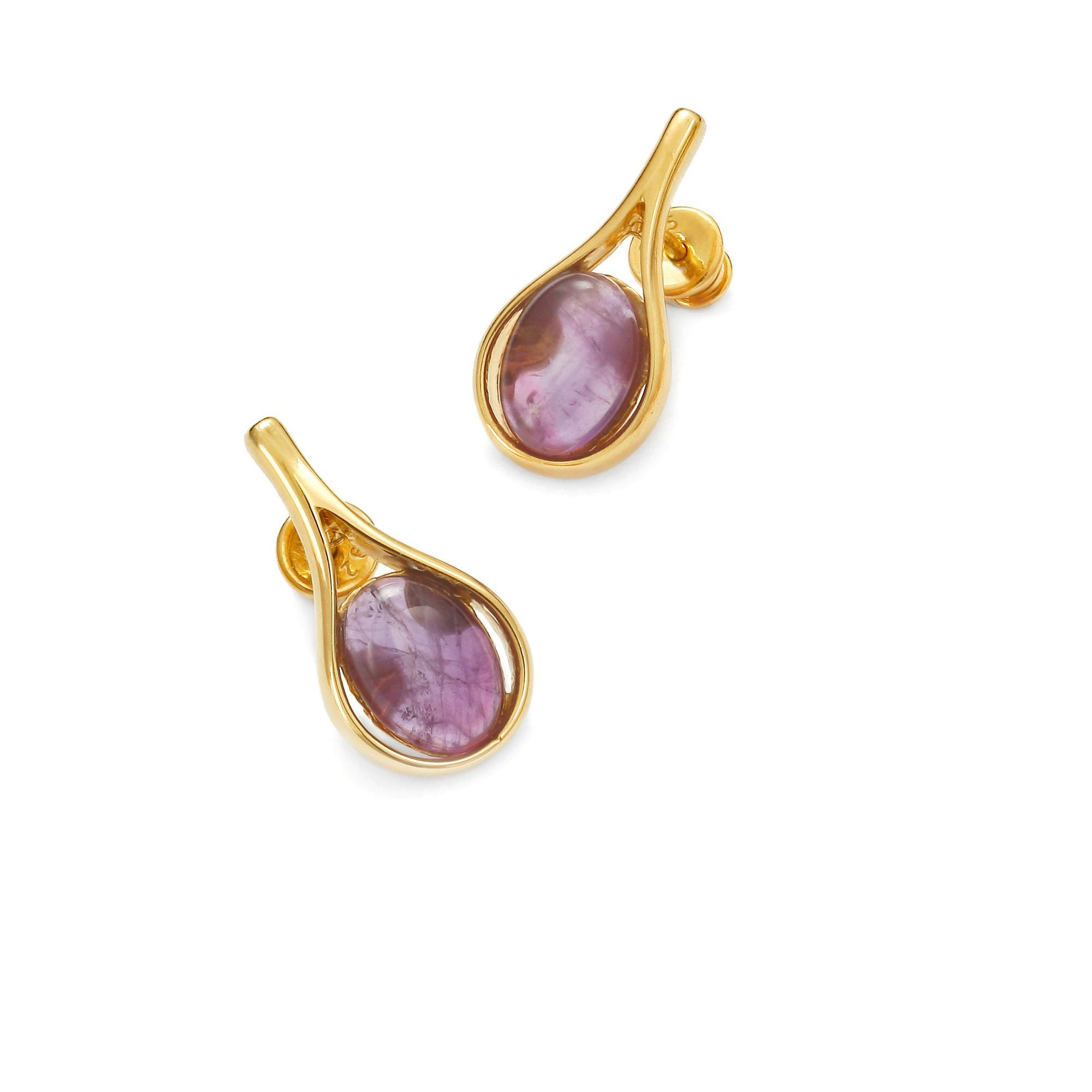 Morning Dew Pink & Purple Earrings - Koraba