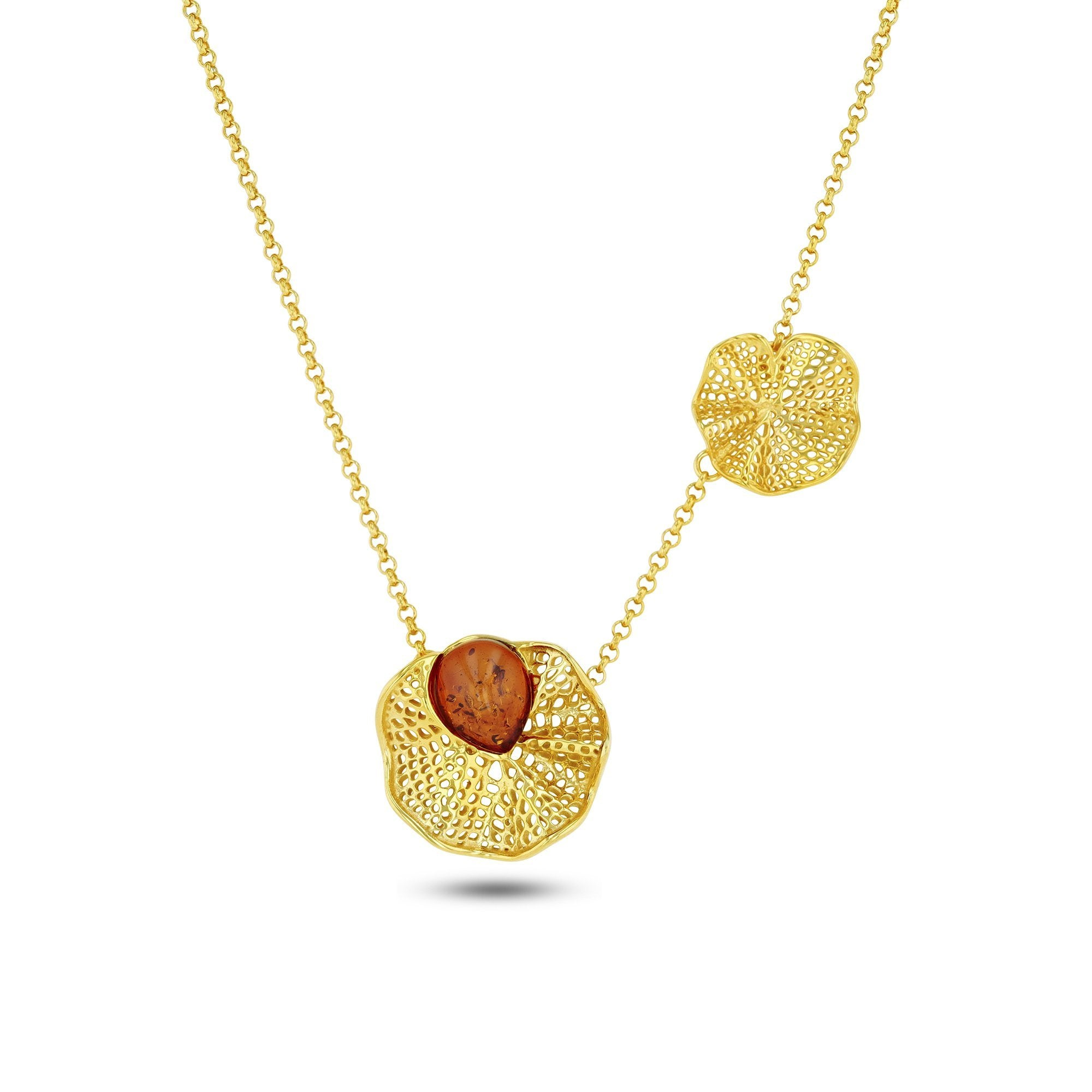 Morning Glory Cognac Necklace - Koraba