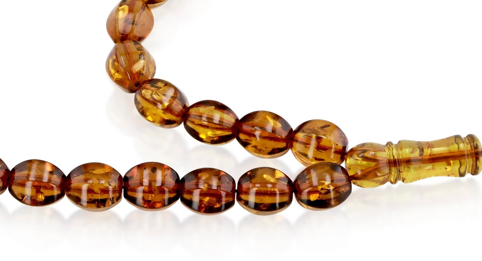 Natural Caribbean Amber Diamond Cut 4 Cognac 33 Rosary beads - Koraba