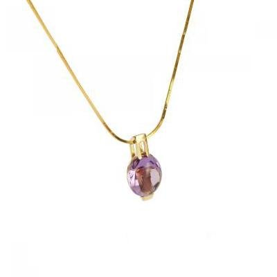 Purple Ice Round Cut Pendant - Koraba
