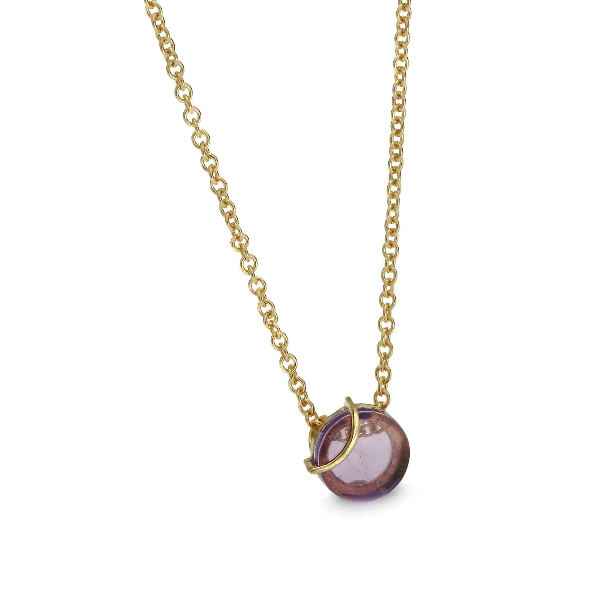 Raw Amulette Purple Amethyst Necklace - Koraba