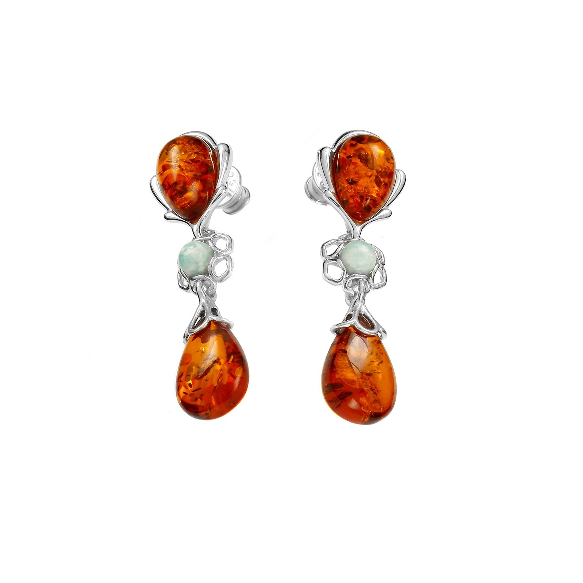 Reflection Cognac Earrings - Koraba