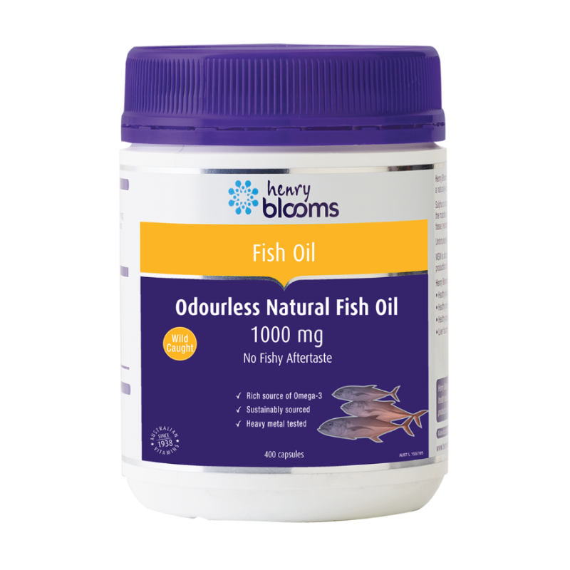 Odourless Natural Fish Oil 1000mg by Henry Blooms
