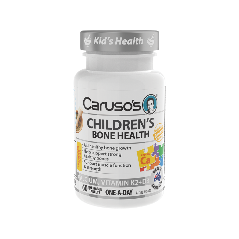 Childrens Bone Health Chewables by Carusos Natural Health