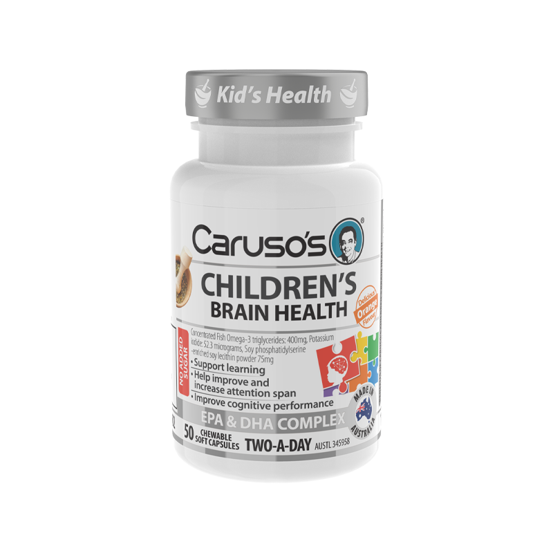 Childrens Brain Health Chewables by Carusos Natural Health
