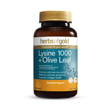 Lysine 1000 + Olive Leaf by Herbs of Gold