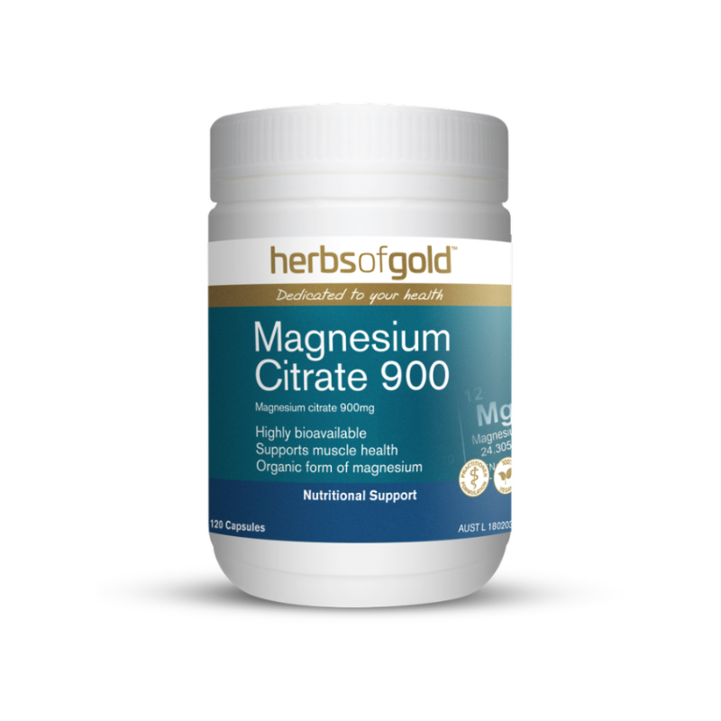 Magnesium Citrate 900 by Herbs of Gold