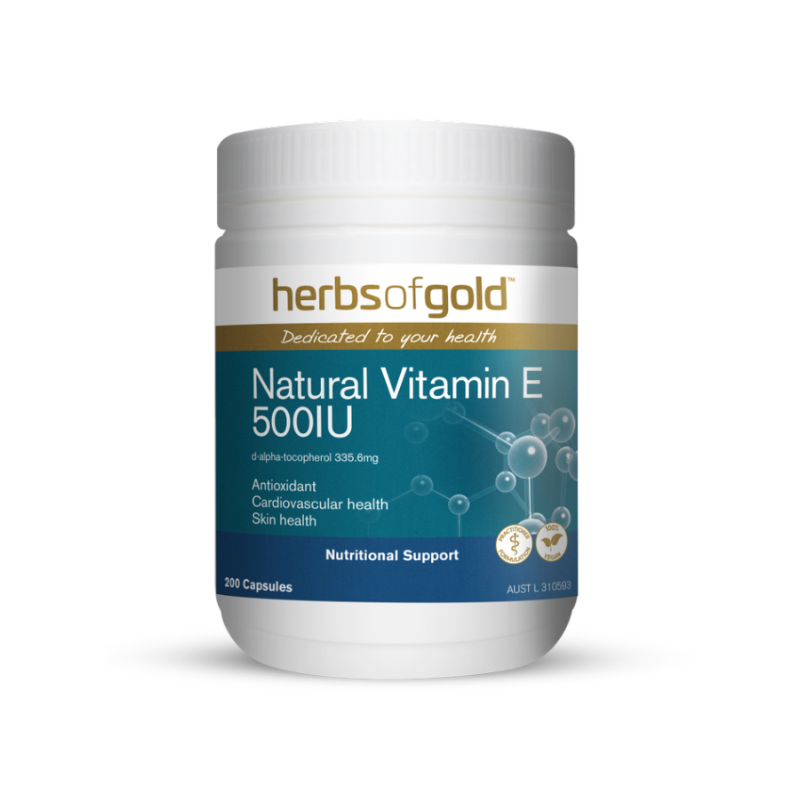 Natural Vitamin E 500IU by Herbs of Gold