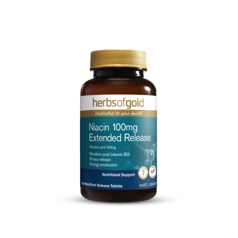Niacin 100mg Extended Release by Herbs of Gold