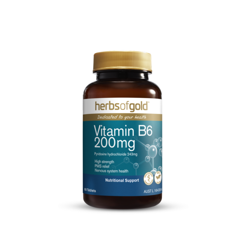 Vitamin B6 200mg by Herbs of Gold