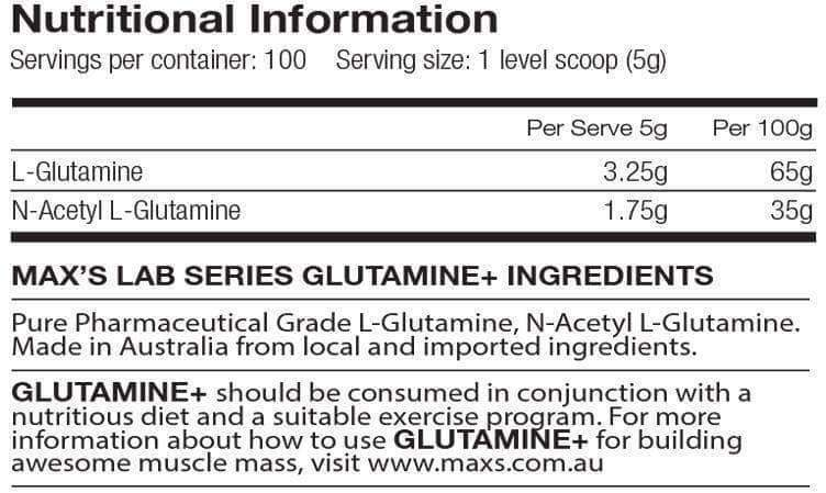 Glutamine+ by Maxs (Lab Series)