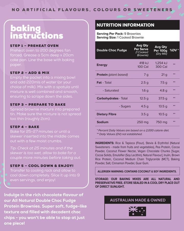 All Natural Protein Brownie Baking Mix by Muscle Nation