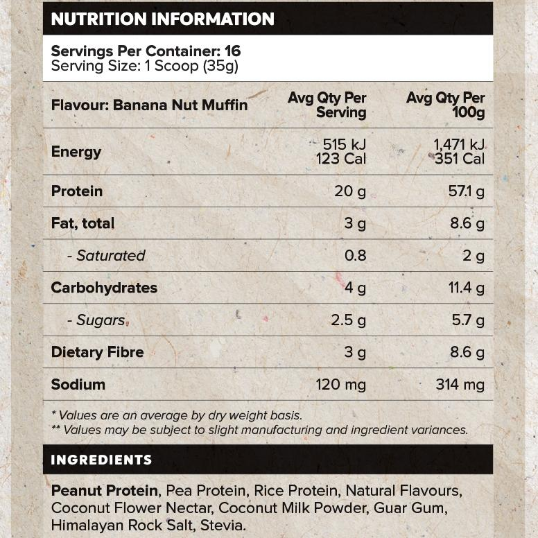 All Natural Plant Protein by Muscle Nation