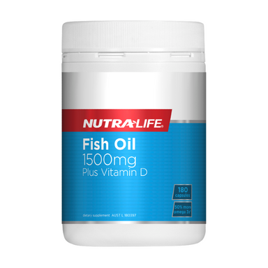 Fish Oil 1500mg Plus Vitamin D by Nutra-Life