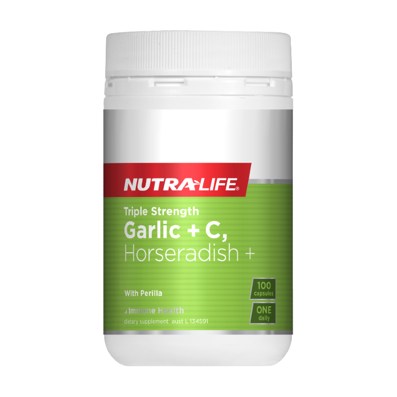 Triple Strength Garlic + C Horseradish by Nutra-Life