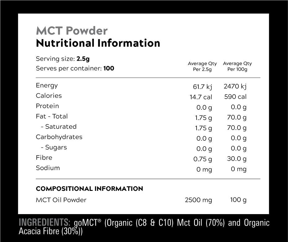 MCT Oil Powder by Switch Nutrition