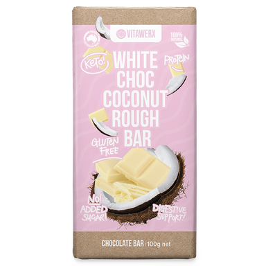 Keto Protein White Chocolate Bar (Large) by Vitawerx