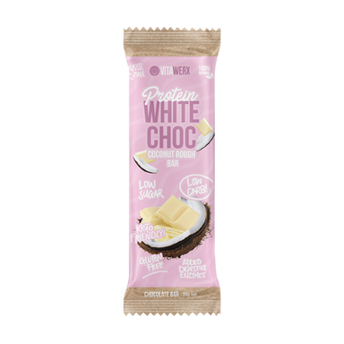 Keto Protein White Chocolate Bar (Small) by Vitawerx