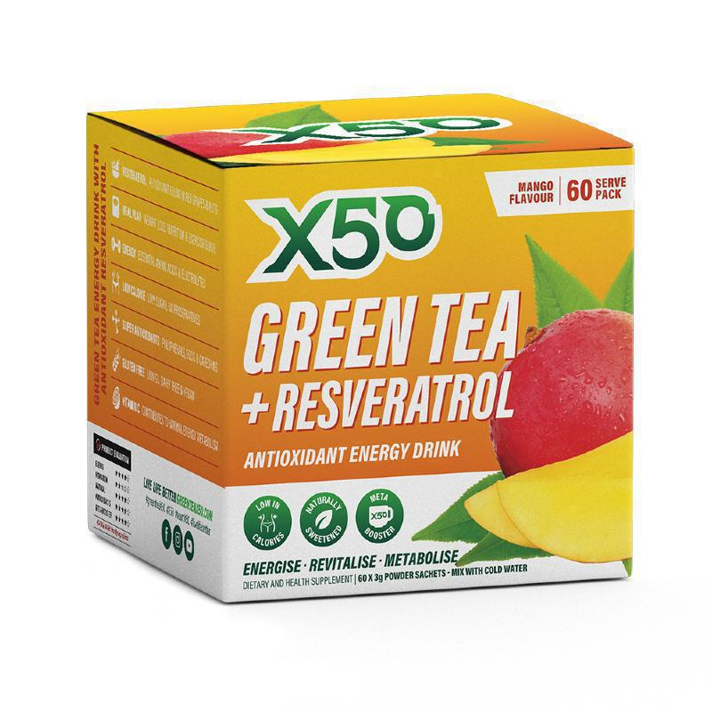 Green Tea + Resveratrol by X50