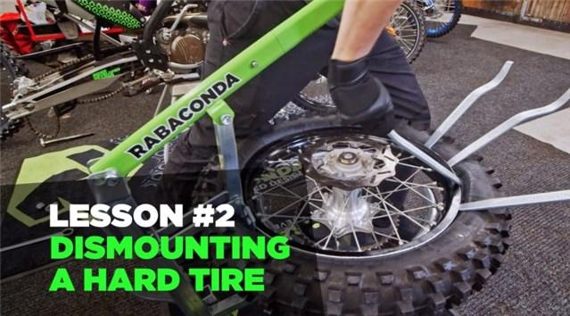 How to Dismount a Hard Motorcycle Tire