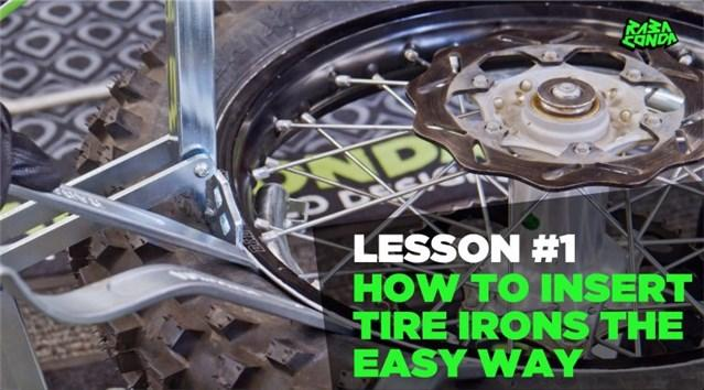 How To Insert Tire Irons the Easy Way