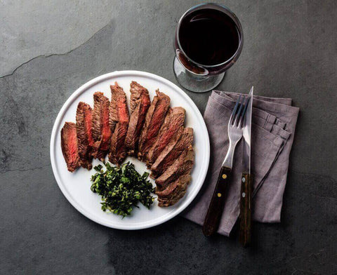 beef steak with red wine