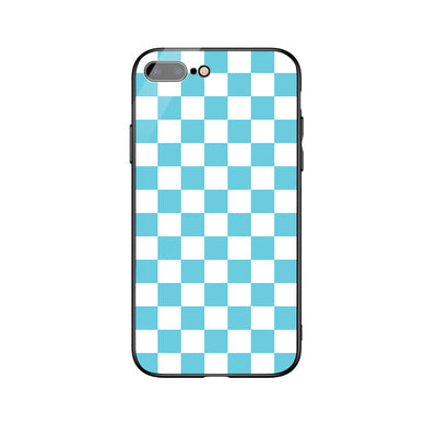 Blue Square Patten iPhone Case