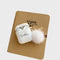 Custom White Airpods Case With Furry Key Rings - Lethetea Accessories