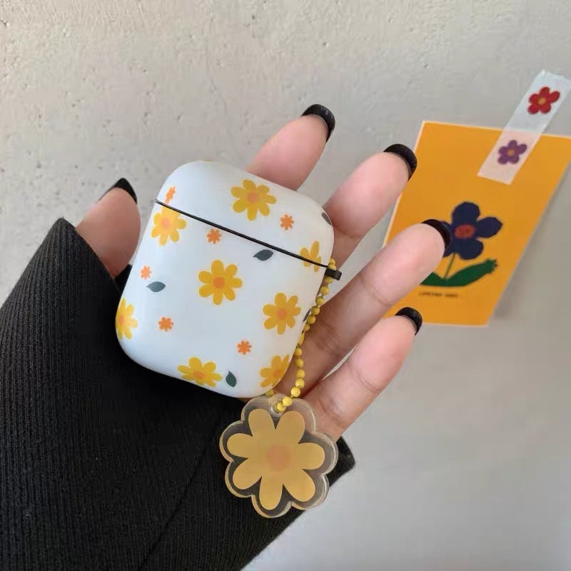 Yellow Flowers Airpods Case