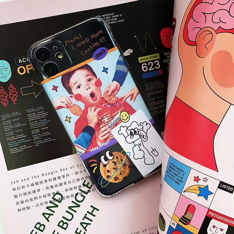 Cute Cookies Boy iPhone Case