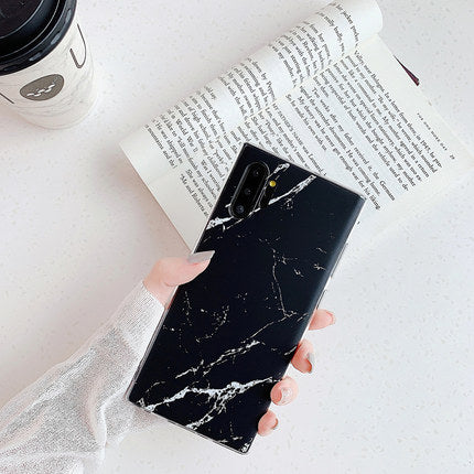 Black Marble Samsung Case - Available to all Samsung Phones