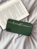 Custom Green Soft iPhone Case With Name