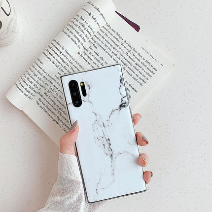 White Marble Samsung Case - Available to all Samsung Phones