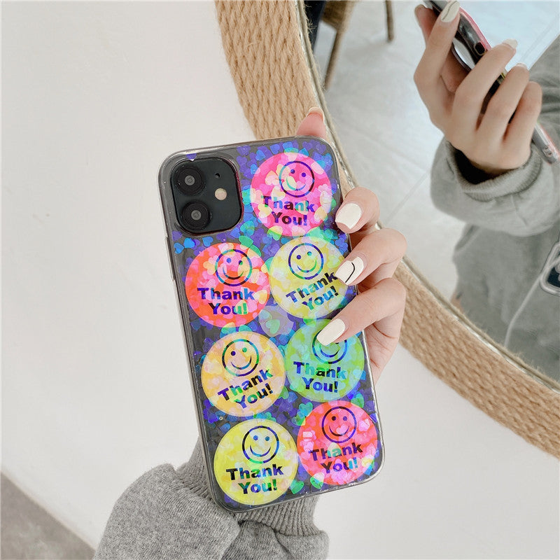 Shiny Happy Face Sticker iPhone Case
