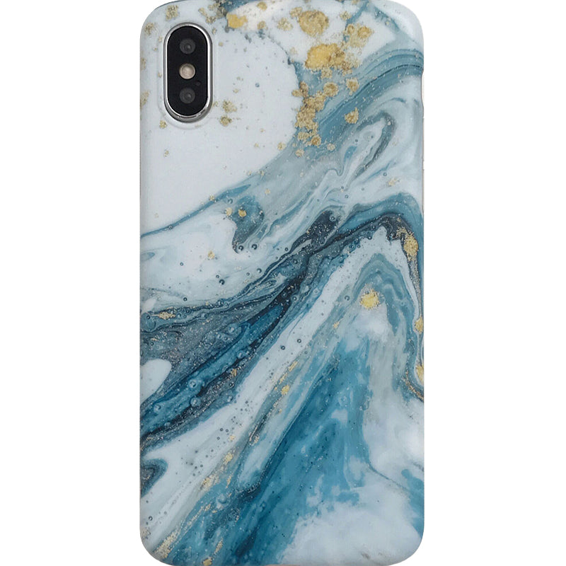 Mix Blue Marble iPhone Case