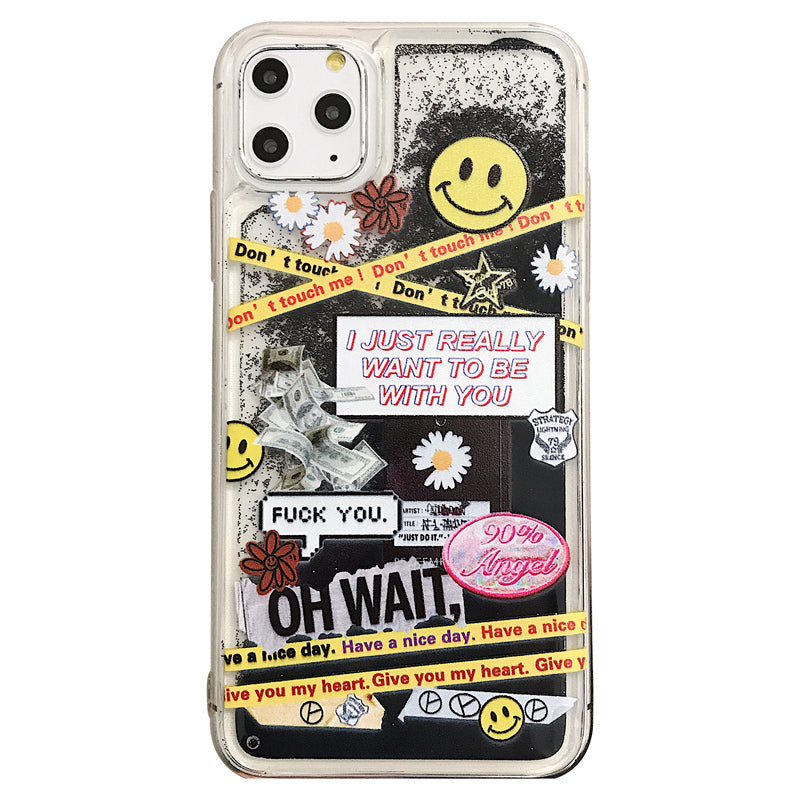 Oh Wait Happy Face iPhone Case