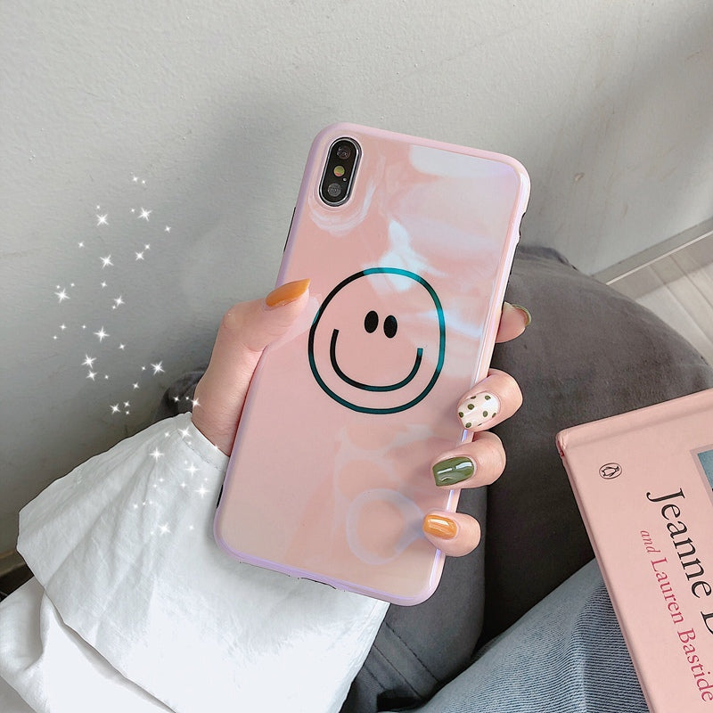 Pink Simple Smile iPhone Case
