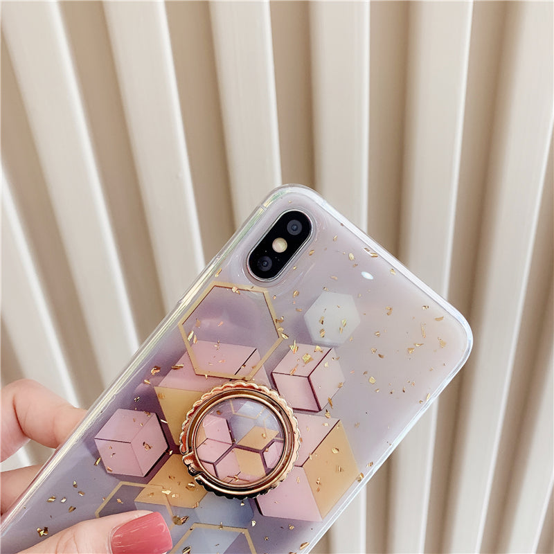 Purple Marble Pattern iPhone Case