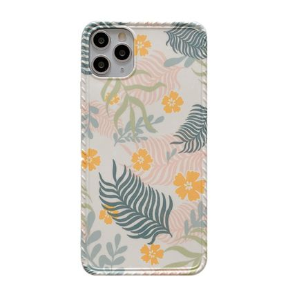 Green Little Leaf Flower iPhone Case