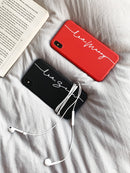 Custom Red Soft iPhone Case With Name