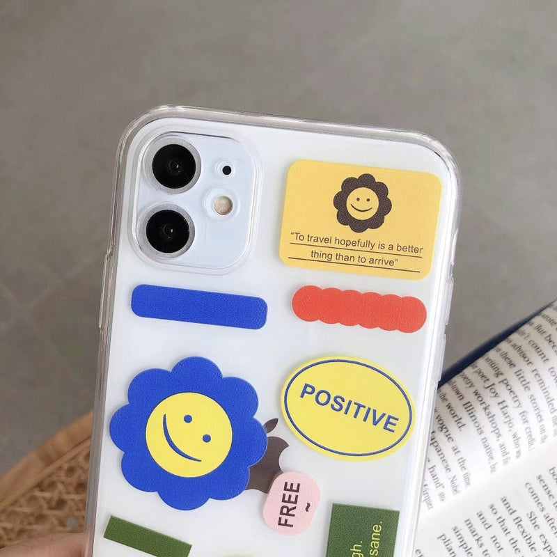 Flowers Happy Faces iPhone Case